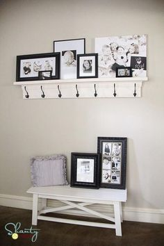 DIY HOME : DIY Hook Shelf for the Entry!