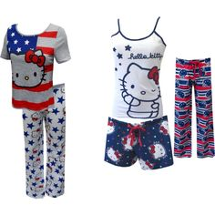 """Hello Kitty Goes Patriotic"" by webundies on Polyvore"