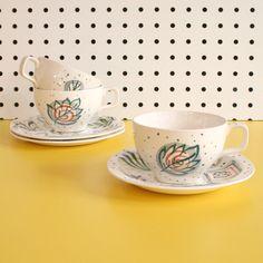 Image of Vintage Midwinter Primavera Cups, Saucer & Plates