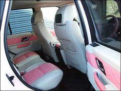 PINK ON WHITE INTERIOR (Range Rover)♥♥♥