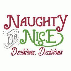 Silhouette Design Store: naughty or nice phrase