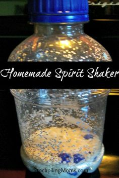 Homemade Spirit Shaker perfect to show your team spirit - made with only 4 items!
