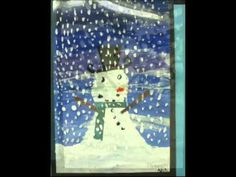 Inspired by Eric Carle's book, Dream Snow.  Love this project and book.  Fun art lesson!