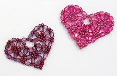 Pretty Beaded Heart - Free Pattern by Sandra D. Halpenny at Bead-Patterns.com