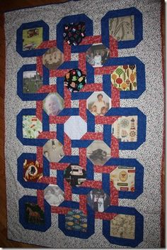 Russ Worthington's Genealogy Quilt done by his daughter Carrie Worthington - beautiful, sentimental, inspirational.