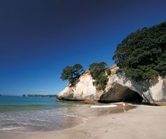 Cathedral Cove, New Zealand...see this baby!!??!!  You're so taking me there! :P