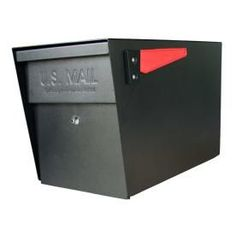 Mail Boss�11-1/4-in x 13-3/4-in Metal Black Lockable Post Mount Mailbox
