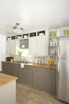 Greige Cabinets!