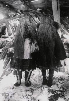 Koryak shaman women wearing grass masks, Siberia, 1900
