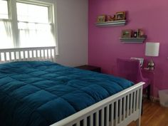 The LaCrosse comforter is an integral part of Jill from USA Lovelist's bedroom update!