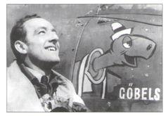 Sgt Václav Truhlář u svého Spitfiru Mk.Vb AA865 (RY-D), na kterém byl sestřelen 10.4.1942. Na letounu je zajímavá karikatura nacistického ministra propagandy Nadporučík Václav Truhlář, příslušník 8. leteckého pluku, zahynul při letecké katastrofě 10.10.1947 u Znojma. Havaroval při nočním letu, kvůli ztrátě orientace na spitfiru LF.Mk.IXe trupového kódu LS-8 (bývalé britské sériové číslo SL635).