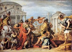 Camillus Rescuing Rome From Brennus by Sebastiano Ricci