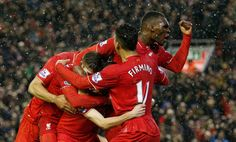 Joe Allen celebrates scoring the third goal for Liverpool with team mates Liverpool 2016, Liverpool Manchester United, Arsene Wenger, Sports News Update, Europa League, Swansea, Ac Milan, Real Madrid, Soccer