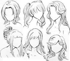 haar tekenen Top right is hair goals Anime Drawings Sketches, Pencil Art Drawings, Manga Drawing, Cute Drawings, Drawing Faces, Anime Hair Drawing, Easy Sketches, Girl Drawings, Gesture Drawing