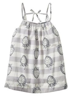 Love how it's graphic and sweet, but now girly.  Strawberry stripe swing dress Product Image