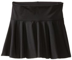 Clementine Big Girls' Girls Microfiber Pull-On Skirt, Black, 16. Durable and fade resistant. Ideal For Practice / Competion.