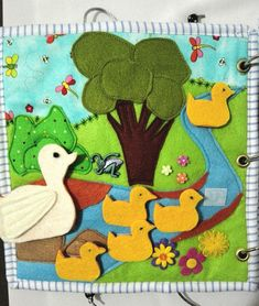 This is a six page Busy Book filled well loved Nursery Rhymes and Songs. Each page has additional activities to keep a little one amused. All pages