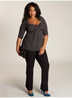 Agnessa Zwart Wit plussize#plus#size#fashion#top#zwart#casual