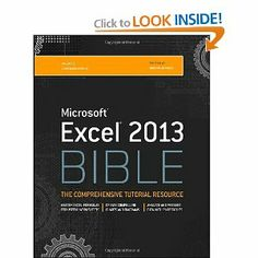 Excel 2013 Bible: John Walkenbach: 9781118490365: Amazon.com: Books  - OK