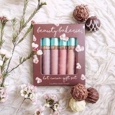"""@schaamaryllis says, """"Life is like a box of chocolates."""" We couldn't agree more!    PS. Our Hot Cocoa Gift Set will be available on BeautyBakerie.com until November 15th 2016! Stay warm this fall and purchase one here: https://www.beautybakerie.com/collections/lip-whip/products/hot-cocoa-set"""