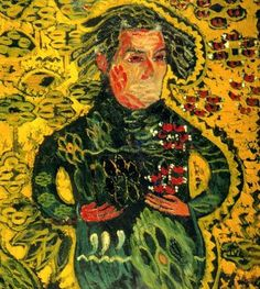 ion tuculescu 1910 - 1962 | 1910 - 1962) Ion Tuculescu s-a nascut pe 19 mai 1910, la Craiova. Abstract Oil, Abstract Expressionism, Oil Painters, Post Impressionism, Yellow Background, Art Blog, Folk Art, Bucharest Romania, Painting