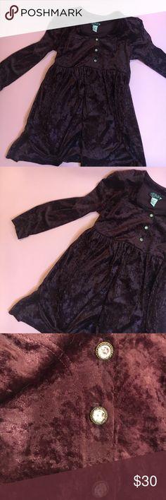 Vintage dark purple velvet babydoll dress Padded shoulders that you can cut out, super fun! Vintage Dresses