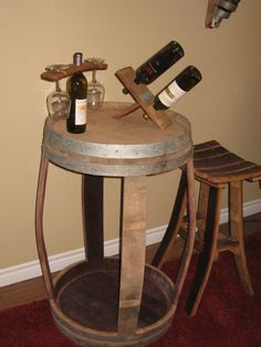 Wine Barrel Table by WineyGuys on Etsy, $225.00