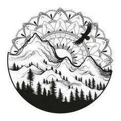 Mandala Sunrise by LucieOn – Mandala Tattoos Mandala Tattoo Design, Mandala Art, Dotwork Tattoo Mandala, Mandala Drawing, Nature Drawing, Easy Mandala, Sun Mandala, Flower Mandala, Karten Tattoos