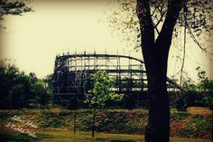 Joyland Roller Coaster, Wichita, KS, taken in May 2014. The coaster was razed a year later. // Silver Shoes & Rabbit Holes