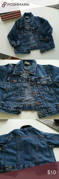KIDS - 18 mos. Faded Glory denim jacket. Versatile long sleeve jean jacket in excellent used condition. Faded Glory Jackets & Coats