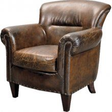 Coach House ES Classic Leather Occasional Armchair