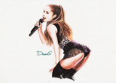 Ariana Grande-Drawing-Deving