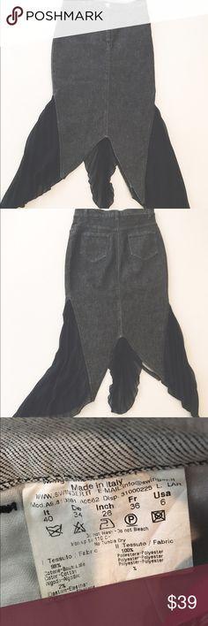 Unfair fever unique design jean skirt Great high waisted skirt( label 6) fits small Ungaro fever Skirts Midi