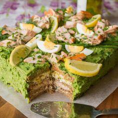 Main Courses - Green Sandwich Cake