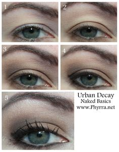 Urban Decay Basics Palette Tutorial with Crave, Naked 2, Faint, Walk of Shame, Venus