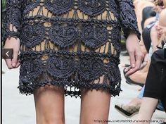 Outstanding Crochet: Blue Crochet Dress.