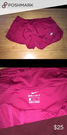Nike dri fit Hot pink super cute Nike dry fit size medium. Perfect condition Nike Shorts