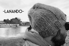 Lanando hat! Cappello lanando a coste larghe in 100% pura lana ecologica