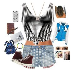 """""""Abigail's Outfit: Riverdale Roleplay"""" by jaycee-marie-pena ❤ liked on Polyvore featuring Calvin Klein Underwear, Tinsel, WithChic, Bony Levy, Vinyl Revolution, Victoria's Secret, Rear View Prints, Converse and Music Notes"""