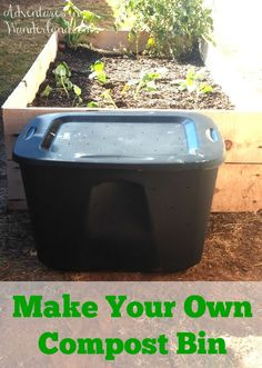 DIY Compost Bin ~ make your own compost bin for your vegetable garden