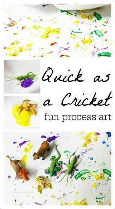 As Quick as a Cricket fun art - I love how simple and colorful this is