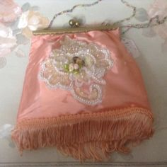 Victorian clasp purse with beaded handle with by cindysvictorian