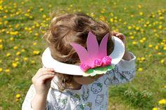 Поделки с детьми. Шляпа из тарелки своими руками - Принцесса.