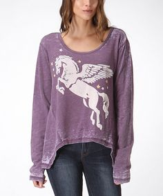 Loving this Purple Pegasus Hi-Low Top on #zulily! #zulilyfinds