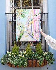 Artist C. Brooke Ring // Charleston Street paintings available 1.30.18 at 9 pm! // Colorful contempoary impressionism