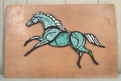 Horse Mosaic Green - Almost looks like Hagen Renaker....but the brown surface doesn't look correct.