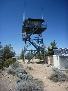The fire lookout tower on the eastern summit of O'Leary Peak, Sunset Crater, AZ