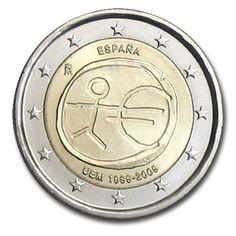 Monedas 2 € conmemorativas - 10 años EMU 2009 - España 2 euros 2009