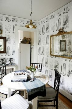 Brian Paquette  The 31-year-old designer, based in Seattle, is known for light, rustic interiors. Below is a shot of the wallpapered dining ...