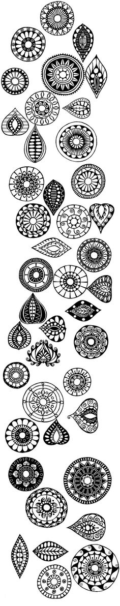 Presenting these separate zentangles offers a great method to isolate and replicate one..